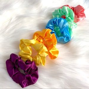 Accessories - Pack of silky Satin Scrunchies - Multi Color